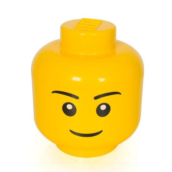 Lego Förvaring Huvud Stort ~ LEGO förvaringslåda huvud, rolig legoförvaring!